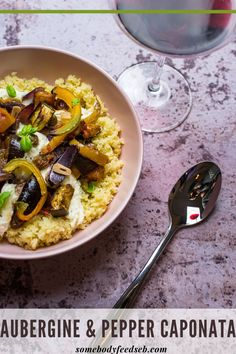 A Sicilian ratatouille with aubergine, peppers, salty capers and sweet sultanas topped with melting strings of cheese! Served on fluffy couscous, this is one of those meals that we keep coming back to. A flavoursome vegetarian dish that's packed with vegetables, our Caponata with Mozzarella is an adored weekday dinner recipe of ours! #auberginerecipes #eggplantrecipes #caponata Vegetable Ratatouille, Ratatouille Recipe, Tomato Vegetable, Vegetable Stew, Vegetarian Stew, Vegetarian Recipes, Sicilian Caponata Recipe, Dinner Ideas, Dinner Recipes