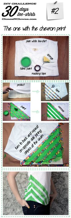DIY 30 DAYS 30 TEE-SHIRTS : #2 chevron tee-shirt | DIY BLOGDIY BLOG
