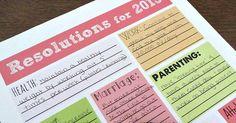 2015 New Year's Resolution Printables | POPSUGAR Smart Living - http://edgysocial.com/2015-new-years-resolution-printables-popsugar-smart-living/