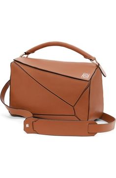 LOEWE 'Puzzle' Leather Bag. #loewe #bags #shoulder bags #clutch #leather #hand bags #