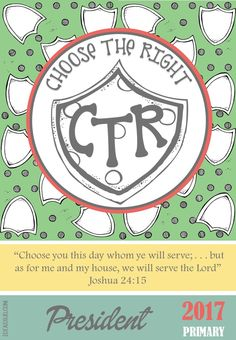 LDS Primary 2017 - Choose the Right - Primary Presidency Binder Covers -  FREE Download