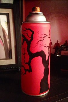 Old spray paint can turned art Spray Can Art, Spray Paint Cans, Graffiti Drawing, Street Art, Sculptures, Models, 3d, Canning, Toys