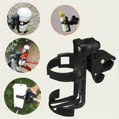 Accesorios del Cochecito de bebé Bebé Bicicleta Cochecito Infantil Carro de Accesorios Botella Portavasos Ajustable de 360 Grados Roating