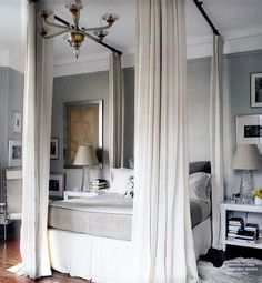 domino magazine canopy bed ceiling curtain rod