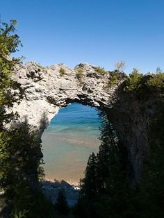 Mackinac Island, Michigan. We went when I was little. Have a picture of this spot from that trip! Want to go back with my son and hubby soon! :)
