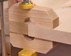 Clamp blocks force the boards to align perfectly to achieve a flat solid wood panel. I might have to try this. #woodworkingtips