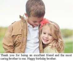 Brother and Sister Quotes: Birthday Message for Brother