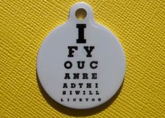 """""""If you can read this I will lick you"""" dog tag"""