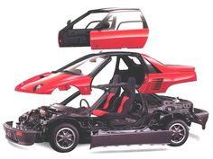 """These Are The Insane """"Bubble Cars"""" From When Mazda Went Nuts 20 Years Ago. Autozam AZ-1"""