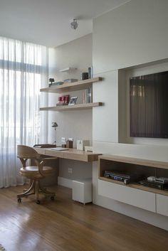 Home Office integrado a sala