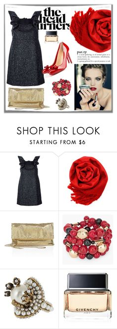 """""""HEAD TURNERS"""" by gustosa ❤ liked on Polyvore featuring Misha Nonoo, Gearonic, Whiting & Davis, Christian Louboutin, Chico's, Gucci and Givenchy"""