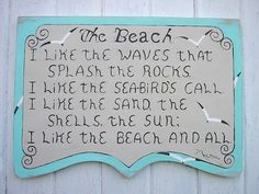 The Beach  distressed sign wood  wall word by CTheWritingOnTheWall, $80.00
