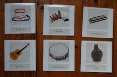 Merci qui ? MERCI MONTESSORI !: Cartes de nomenclature : les instruments de musique