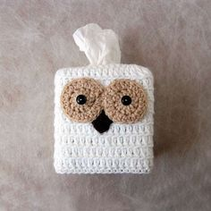 Owl Crochet Tissue Box Cover Country Cottage Ho me by NutmegCottage #pottiteam