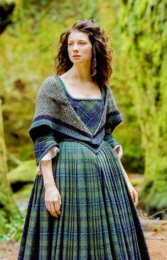 Claire in tartan