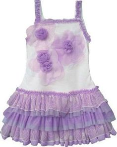 tank lavender ruffled dress