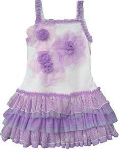 tank lavender ruffled dress