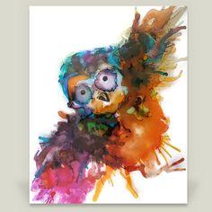 Fun Indie Art from BoomBoomPrints.com! http://www.boomboomprints.com/Product/emmakaufmann/Little_Owl/Art_Prints/8x10_Print/