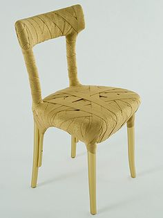 Original Mummy chair with cloth bandages ...