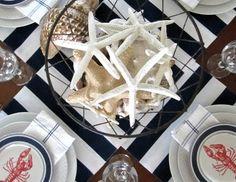 nautical lobster theme plates