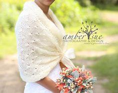 Bridal Bolero Wedding Shawl Knit Shawl Winter by MODAcrochet