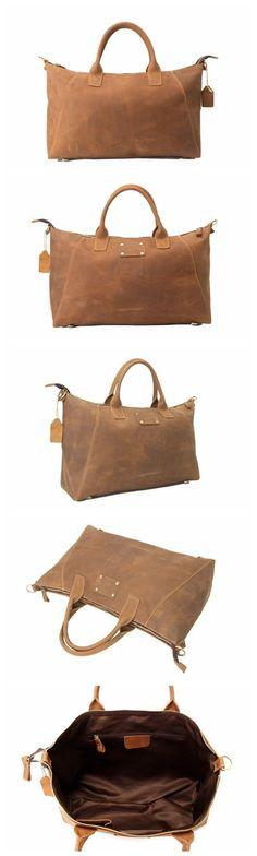 Handmade Genuine Leather Briefcase, Tote Bag, Messenger Shoulder Bag ZB03