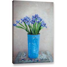 Elena Ray Iris Flowers Gallery-Wrapped Canvas, Size: 16 x 24, Purple