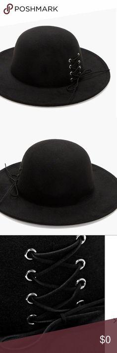 2395cd27907a5 🆕Black Floppy Hat Corset design A fun fashion Floppy hat with a corset  design.
