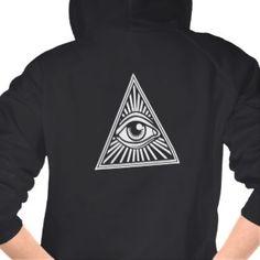 Illuminati All Seeing Eye Fleece Raglan Zip Hoodie
