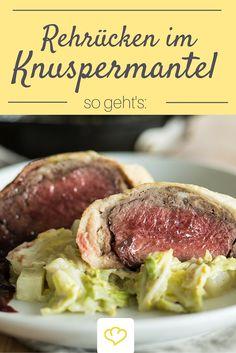 Zartes Rehfleisch im knusprigen Brotmantel mit rahmigen Wirsinggemüse - ein…
