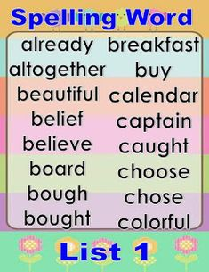 This spelling list was made to help kids read and remember words they can use in their writing. Spelling Lists, Spelling Words, Hindi Words, Visual Aids, Picture Cards, Kids Reading, Best Teacher, Third Grade, Kindergarten