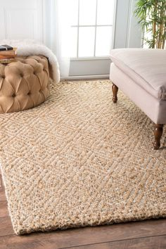 Montclair Hand Woven Tan Area Rug