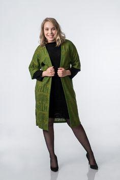 KAINO Knitted Deer Kimono Aw17, Knitwear, Deer, Kimono Top, Fall Winter, Wool, Sleeves, Cotton, Collection