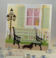 Card by Mary McMillan using PoppyStamps dies - should be able to find similar items on Cricut
