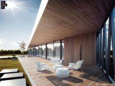 Dom z Trójkątów z żeglarską stalową linką | PLN Design