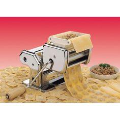 Ravioli Imperia Pasta Machine Attachment at Wayfair Ravioli, Kitchen Helper, Toy Kitchen, Kitchen Ideas, Spiral Potato, Manual Juicer, Pasta Machine, Pasta Maker, Drying Pasta