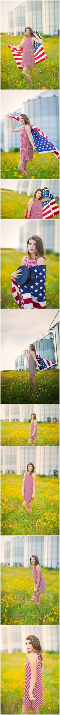 Madison | Armorel High School | 2017 Senior www.amberoxleyphotography.com urban senior, senior dress, senior pose, senior girl poses, senior style, senior fashion, modern, arkansas photographer, missouri photographer, tennessee photographer, senior pictures, ideas, blytheville photographer, , rural photography, casual summer outfit, farm, silos, wild flowers, american flag, 4th of July, patriotic, amber oxley