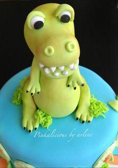 edible dinosaur cake topper
