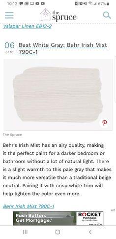 Paint Color Pallets, Behr Paint, Valspar, Color Palettes, Natural Light, Paint Colors, Palace, Sydney, Bedrooms