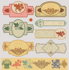 free vintage labels | decorative vintage labels for web design | Download free…