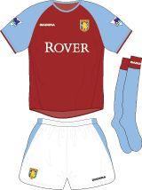 Aston Villa Football Kits Home Kit 2003-2004