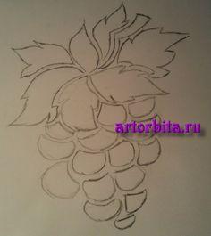 Рисунок. Трафарет 1 - Виноградная лоза