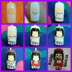 Easy Nail Art, Projects To Try, Angel, Dolls, Nail Polish Racks, Sketches, Amor, Ideas, Drawings