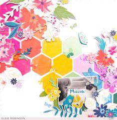 Sweet Like Honey Scrapbook Layout (Pink Paislee)