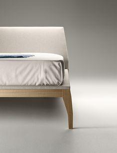 Close-up of the Bel bed's leg. #bel #bed #bedroom #design #furniture #mueblestreku #treku