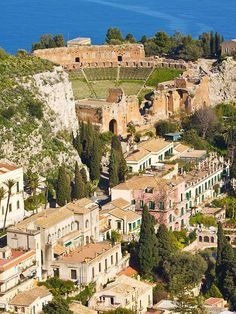 Panorama. Taormine, Sicile.
