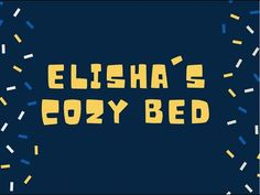 Make Elisha's cozy bed out of food! Food Crafts, Cozy Bed, Sunday School