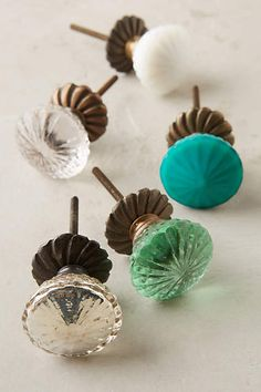 Unique Recycled Glass Knobs