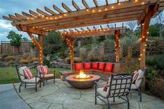 Backyard fire pit & pergola!   Favorite Places and Spaces ... on Pergola Fire Pit Ideas id=72485