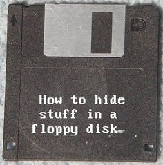 Picture of How to hide stuff in a floppy disk